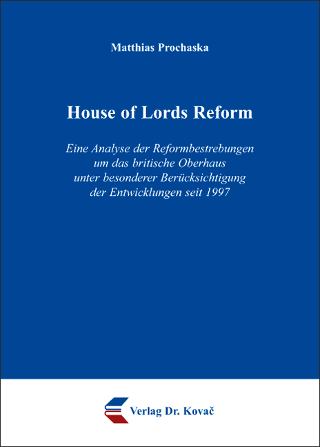 Cover: House of Lords Reform