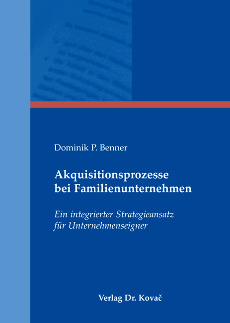 Cover: Akquisitionsprozesse bei Familienunternehmen