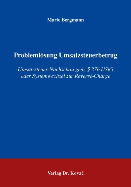 Cover: Problemlösung Umsatzsteuerbetrug