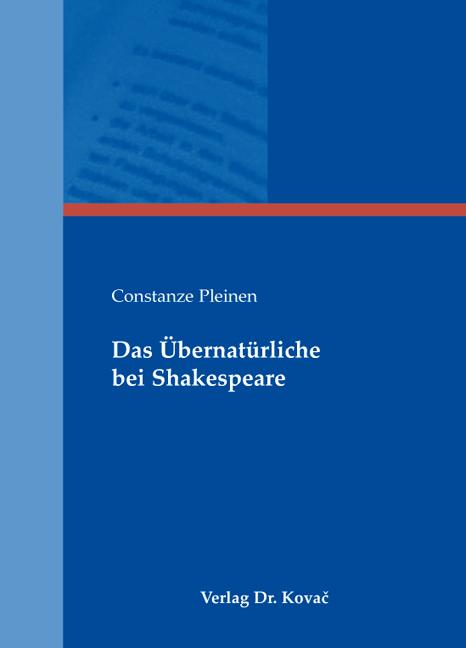 Cover: Das Übernatürliche bei Shakespeare