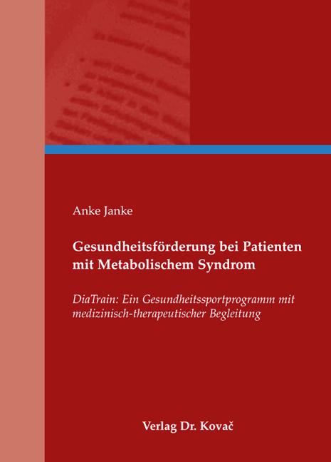 Cover: Gesundheitsförderung bei Patienten mit Metabolischem Syndrom