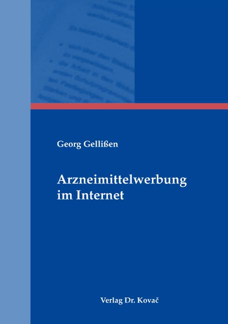 Cover: Arzneimittelwerbung im Internet