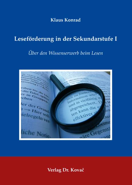 Cover: Leseförderung in der Sekundarstufe I