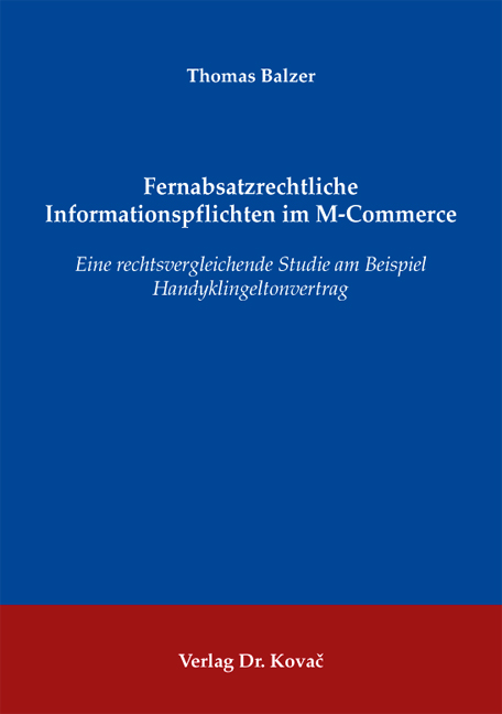 Cover: Fernabsatzrechtliche Informationspflichten im M-Commerce