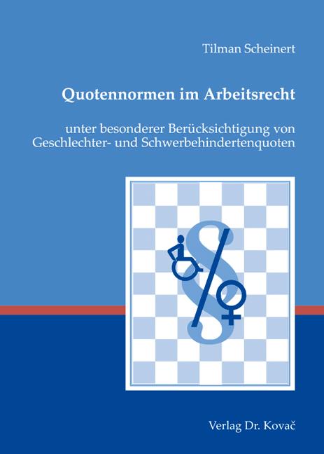 Cover: Quotennormen im Arbeitsrecht