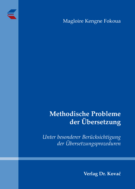 Cover: Methodische Probleme der Übersetzung