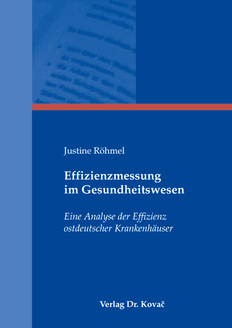 Cover: Effizienzmessung im Gesundheitswesen