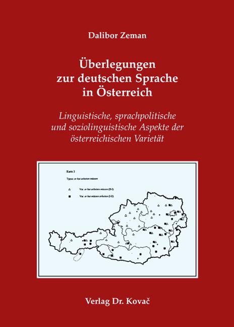 Cover: Überlegungen zur deutschen Sprache in Österreich