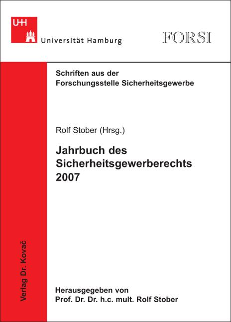 Cover: Jahrbuch des Sicherheitsgewerberechts 2007