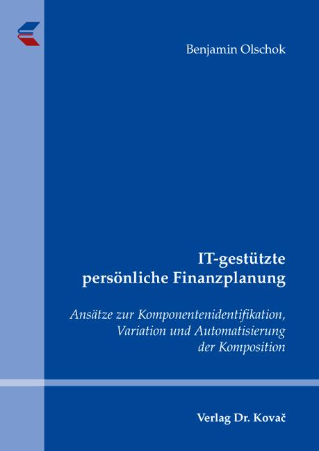 Cover: IT-gestützte persönliche Finanzplanung