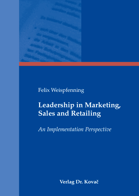 Cover: Leadership in Marketing, Sales and Retailing