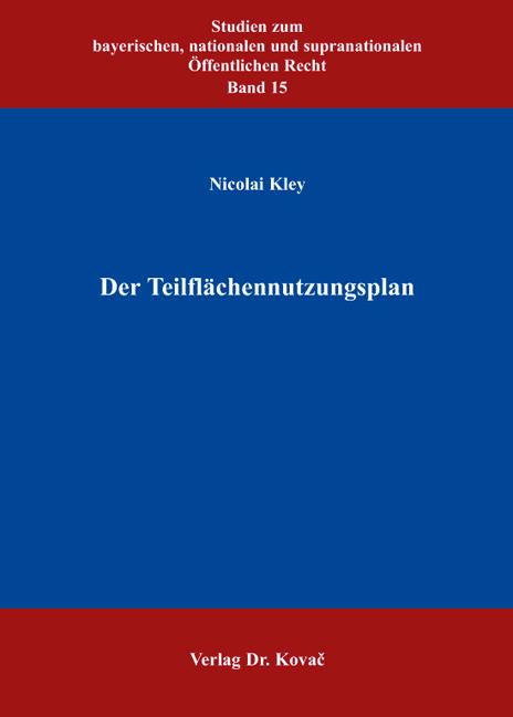 Cover: Der Teilflächennutzungsplan