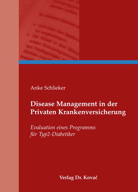 Cover: Disease Management in der Privaten Krankenversicherung