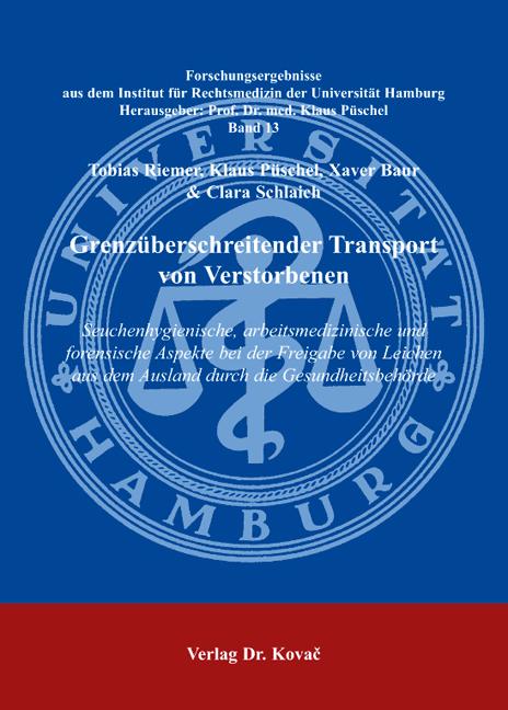Cover: Grenzüberschreitender Transport vonVerstorbenen