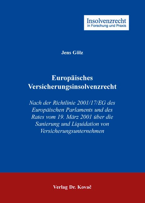 Cover: Europäisches Versicherungsinsolvenzrecht