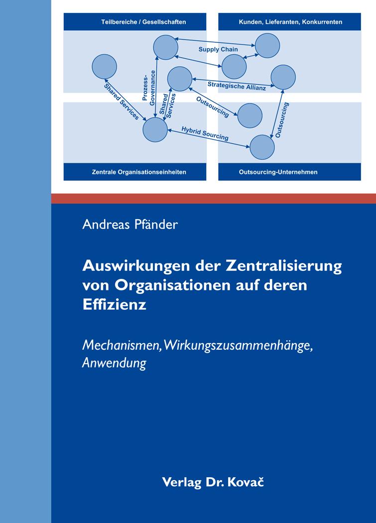 Cover: Auswirkungen der Zentralisierung von Organisationen auf deren Effizienz