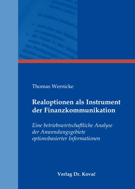 Cover: Realoptionen als Instrument der Finanzkommunikation