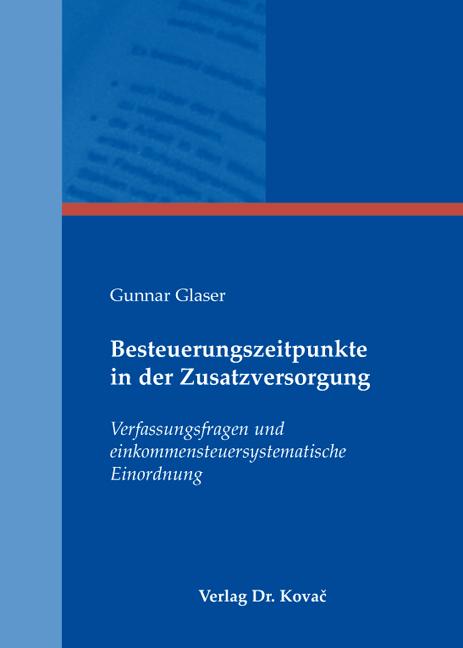 Cover: Besteuerungszeitpunkte in der Zusatzversorgung