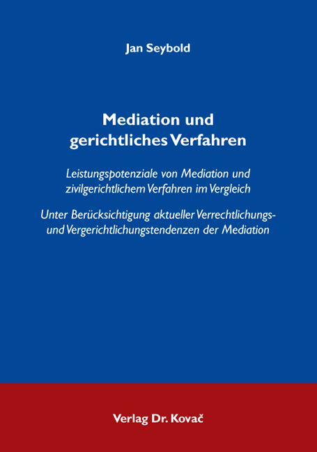 Cover: Mediation und gerichtliches Verfahren