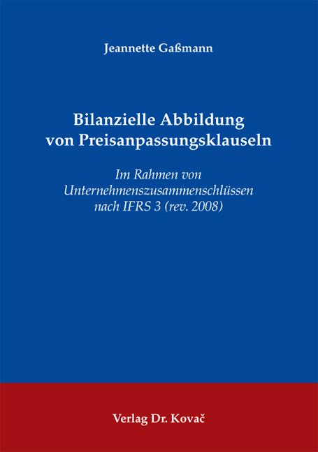 Cover: Bilanzielle Abbildung von Preisanpassungsklauseln
