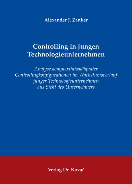 Cover: Controlling in jungen Technologieunternehmen