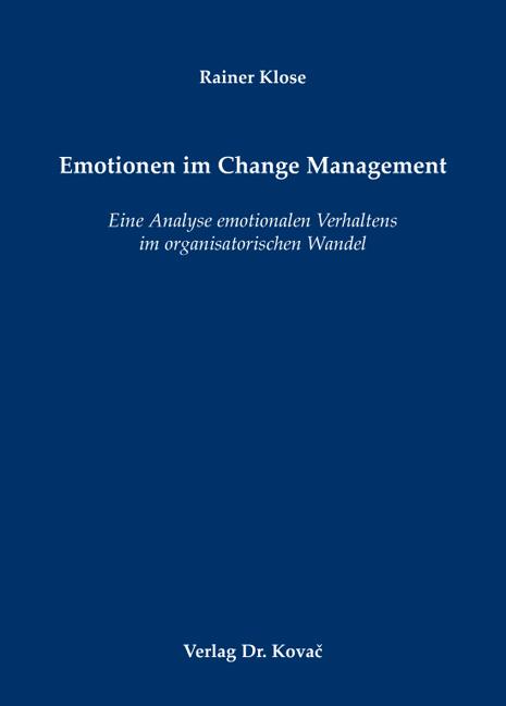 Cover: Emotionen im Change Management