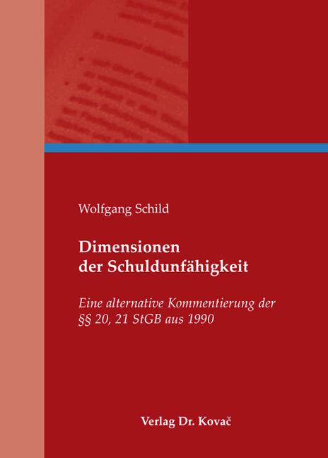 Cover: Dimensionen der Schuldunfähigkeit