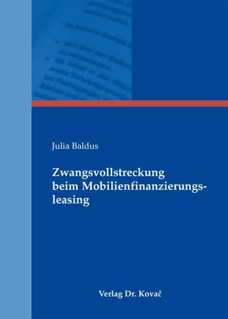 Cover: Zwangsvollstreckung beim Mobilienfinanzierungsleasing