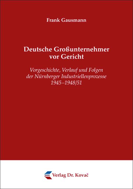 Cover: Deutsche Großunternehmer vor Gericht