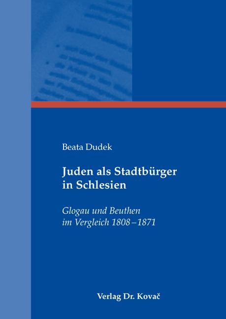 Cover: Juden als Stadtbürger in Schlesien