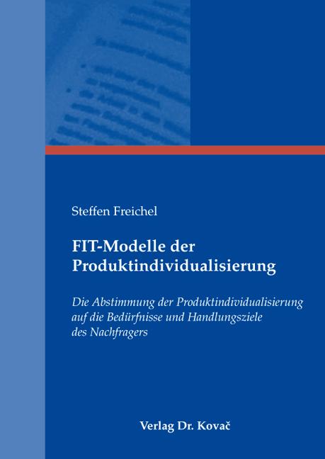 Cover: FIT-Modelle der Produktindividualisierung