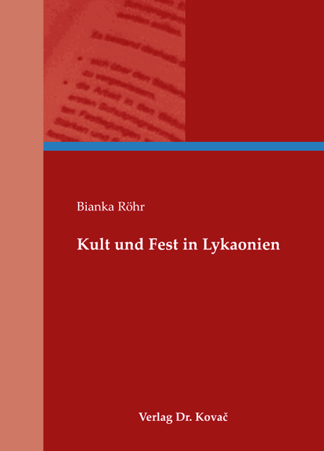 Cover: Kult und Fest in Lykaonien