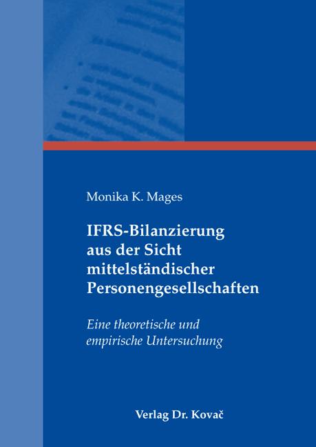 Cover: IFRS-Bilanzierung aus der Sicht mittelständischer Personengesellschaften