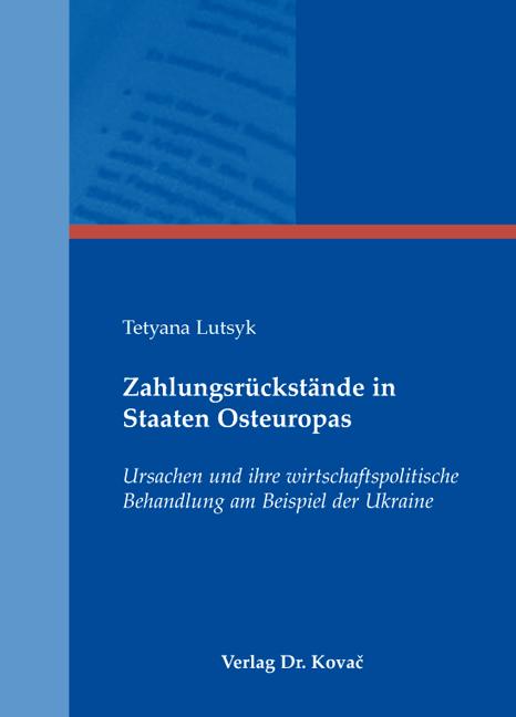 Cover: Zahlungsrückstände in Staaten Osteuropas