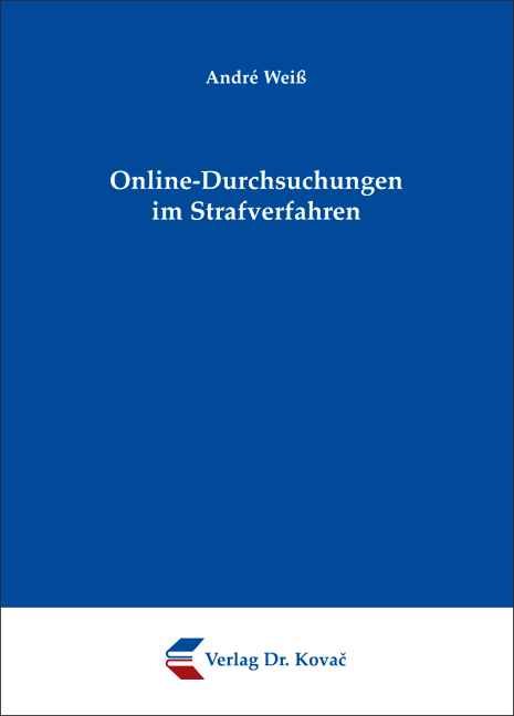 Cover: Online-Durchsuchungen im Strafverfahren