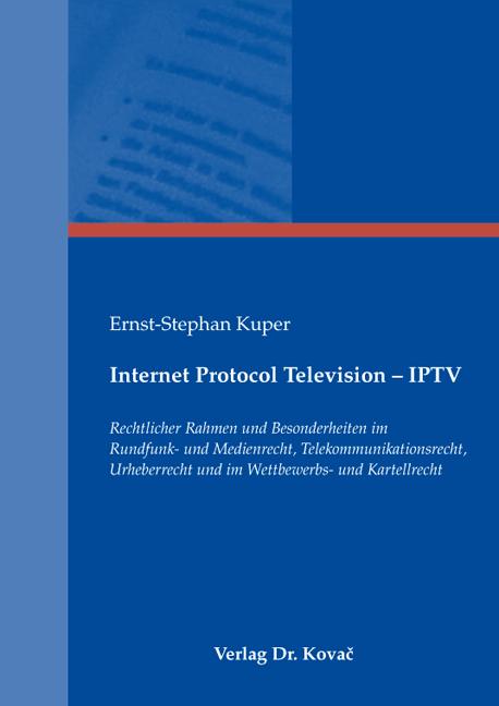 Cover: Internet Protocol Television – IPTV