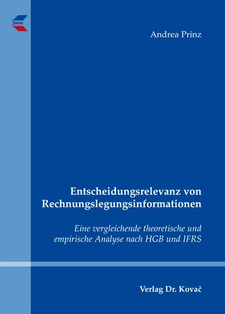Cover: Entscheidungsrelevanz von Rechnungslegungsinformationen