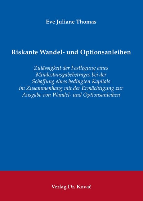 Cover: Riskante Wandel- und Optionsanleihen