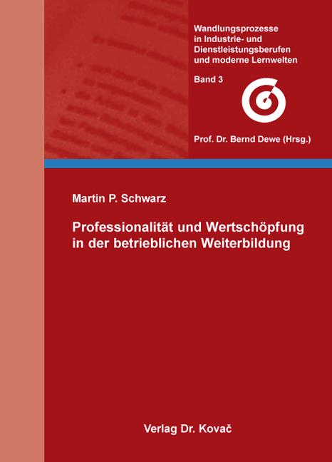 Cover: Professionalität und Wertschöpfung in der betrieblichen Weiterbildung