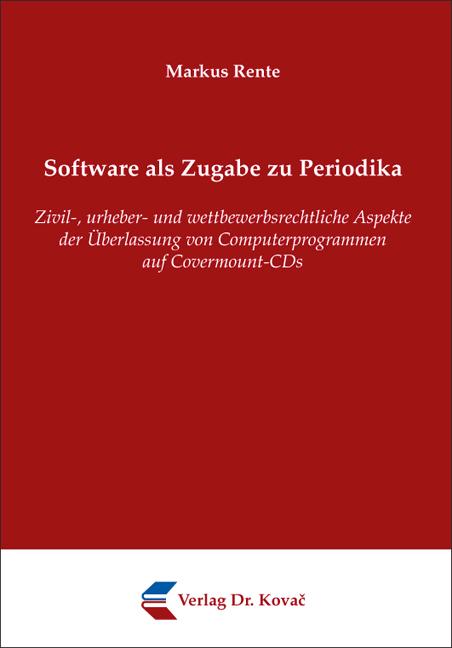 Cover: Software als Zugabe zu Periodika