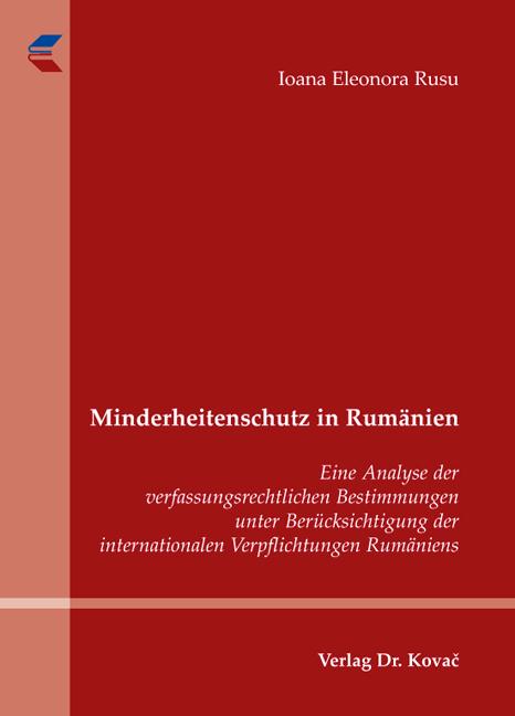 Cover: Minderheitenschutz in Rumänien