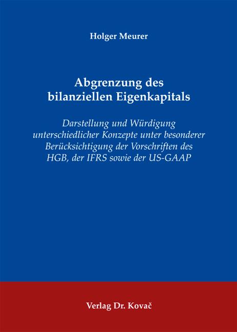 Cover: Abgrenzung des bilanziellen Eigenkapitals