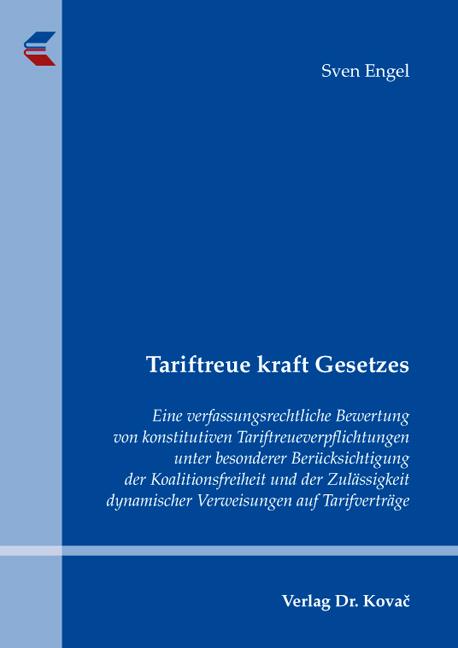 Cover: Tariftreue kraft Gesetzes