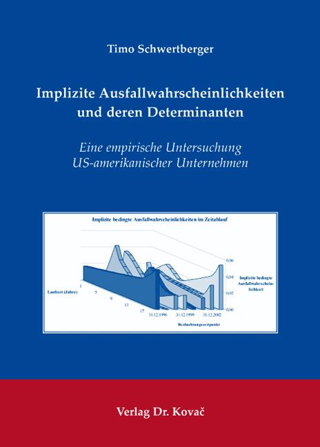 Cover: Implizite Ausfallwahrscheinlichkeiten und deren Determinanten