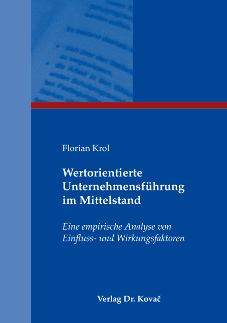 Cover: Wertorientierte Unternehmensführung im Mittelstand
