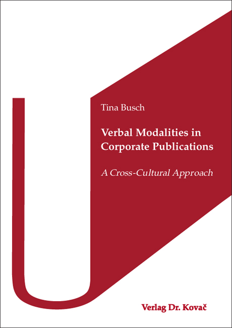 Cover: Verbal Modalities in Corporate Publications