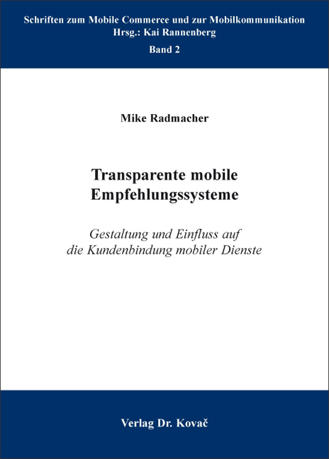 Cover: Transparente mobile Empfehlungssysteme