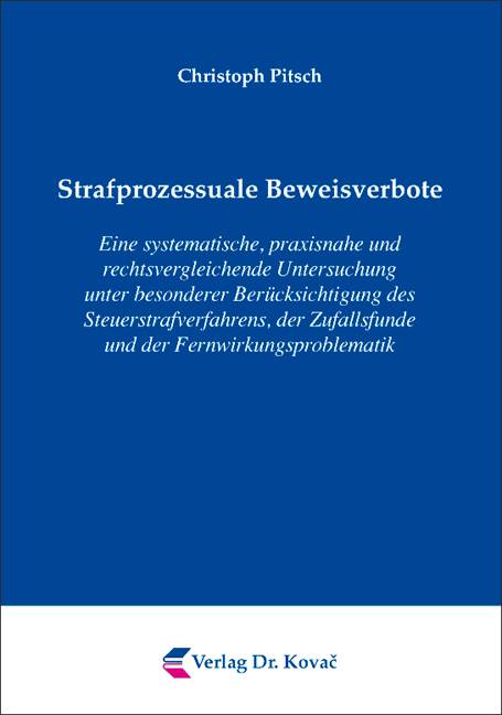 Cover: Strafprozessuale Beweisverbote