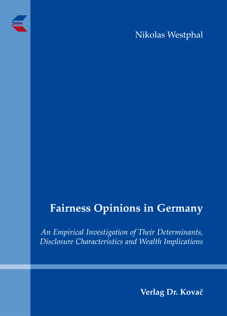 Cover: Fairness Opinions in Germany