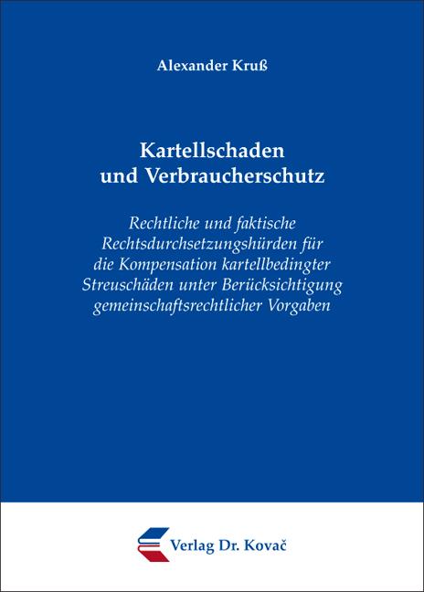 Cover: Kartellschaden und Verbraucherschutz
